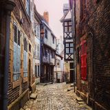 Streets of Moulins. Colourful streets of Moulins France Stock Image
