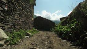 Streets mountain village stock video