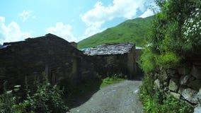 Streets mountain village stock video footage