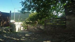 Streets mountain village stock footage
