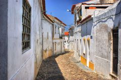 Streets of Moura village stock photography
