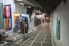 Streets at Mykonos island in Greece Royalty Free Stock Photography