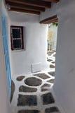 Streets of Mykonos island, Greece Stock Photography