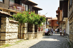 The streets of Nessebar. Nessebar, Bulgaria. The streets of Old Town Stock Photos