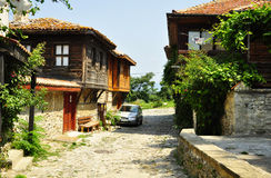 The streets of Nessebar. Nessebar, Bulgaria. The streets of Old Town, July, 16 2012 Royalty Free Stock Image