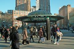 Streets of New York Union Square USA Stock Photos