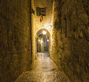 Streets at night. Jerusalem, Israel. Stock Photo