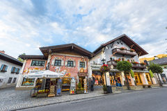 At the streets of Oberammergau Royalty Free Stock Photos
