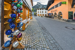 At the streets of Oberammergau Royalty Free Stock Images