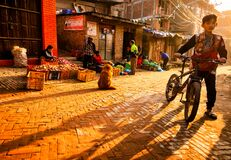 Free Streets Of Bhaktapur, Nepal Royalty Free Stock Images - 174236529