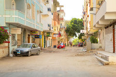 Streets Of City Center In Hurghada, Egypt Stock Images