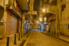 Streets Of Historic Macau At Night Stock Photos