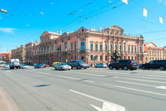 Streets Of Saint Petersburg Royalty Free Stock Photos
