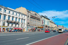 Streets Of Saint Petersburg Stock Photo