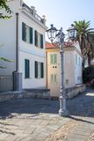 Streets of old city Alghero Royalty Free Stock Photography