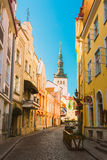 Streets And Old City Architecture In Tallinn, Estonia Royalty Free Stock Image