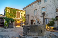 In the streets of Old City of Carcassonne Royalty Free Stock Photo