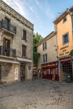 In the streets of Old City of Carcassonne Stock Photography
