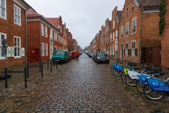 The streets of the old city of Potsdam. Royalty Free Stock Photography