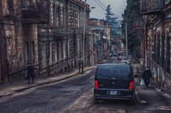 Streets of old city Tbilisi, Georgia Royalty Free Stock Photo