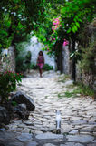 Streets of Old Datca. A street view from old Datca Turkey Royalty Free Stock Photography