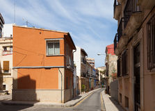 Streets in old european city. Alicante Royalty Free Stock Photos