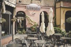 Streets of the old Italian city Finalborgo royalty free stock image