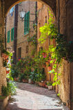 The streets of the old Italian city of Siena Royalty Free Stock Photography