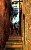 The streets of old Jaffa stock photos