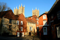 Streets of Old Lincoln. Royalty Free Stock Photography