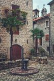 Streets of old medieval town Kotor Stock Images