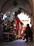 Angles in the Streets of the ld Medina in Marrakech in Morocco stock photography