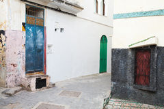 Streets of old Medina. Tangier, Morocco Royalty Free Stock Images