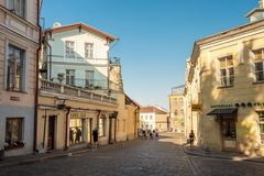 Streets And Old Part City Architecture Estonian Royalty Free Stock Photo