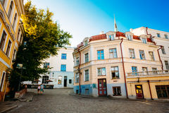 Streets And Old Part City Architecture Estonian Capital, Tallinn Royalty Free Stock Photography