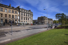 Streets in the old part  of Edinburgh. Edinburgh is rich in associations with the past and has many historic buildings, including Edinburgh Castle, Holyrood Royalty Free Stock Photos