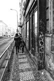 The streets of old Prague Stock Images