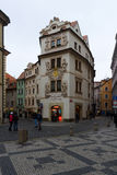 The streets of old Prague. Souvenir shop Royalty Free Stock Photos