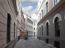 Streets of old Riga, Latvia Royalty Free Stock Photos