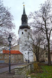 Streets of old Tallinn, Europe Royalty Free Stock Image