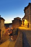 Streets of the old town Ares in Spain.  Evening time. Stock Images