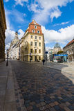 The streets of the old town. In the background Frauenkirche Royalty Free Stock Photo