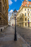 The streets of the old town. In the background Frauenkirche Royalty Free Stock Images