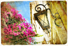 Old greek streets Royalty Free Stock Photos