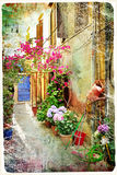 Old greek streets Royalty Free Stock Images