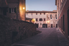 Streets of old town at dusk Royalty Free Stock Image