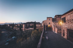 Streets of old town at dusk Royalty Free Stock Photos