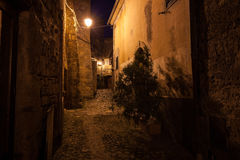 Streets of old town at dusk. Streets of old european town at dusk royalty free stock images