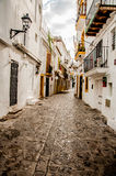 Streets of Old Town Ibiza Stock Image