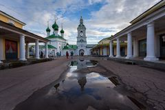 Streets of the old town of Kostroma. Shopping Rows. Russia. royalty free stock photo
